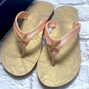 Starfish sandals woman's Pearl blush with box